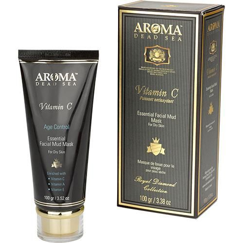 Лечебно-грязевая маска для сухой кожи лица с витамином С, Aroma Dead Sea (Арома Дэд Си) 100 мл