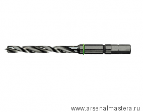 Сверло-бит удлин. спиральное по дереву Festool D 8 CE/W (Длина 115 мм) 492517