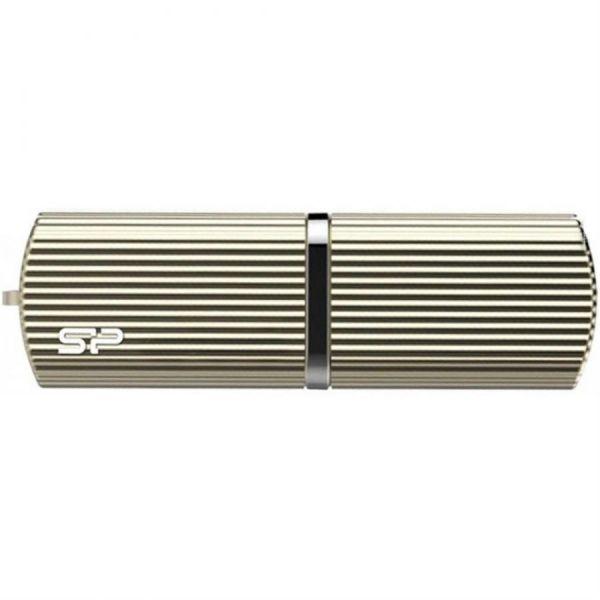32GB USB3.0 накопитель Silicon Power M50 максим. скорость 90/60 МБ/с металл золотой