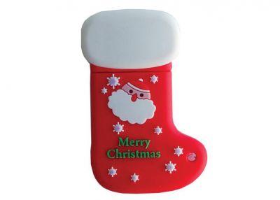 4GB USB-флэш накопитель Apexto SOC Красный новогодний носок