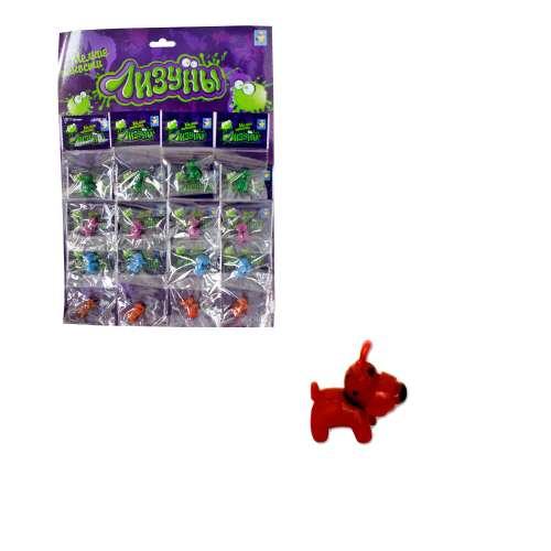 """1toy """"Мелкие пакости"""" Лизуны скотч-терьер 2 см, 4 вида, пакет, 16 ОРР пакетов на блистере"""
