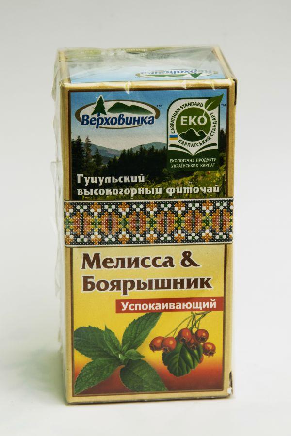 """Фиточай Мелисса и Боярышник """"Верховина"""" ,40 грамм"""