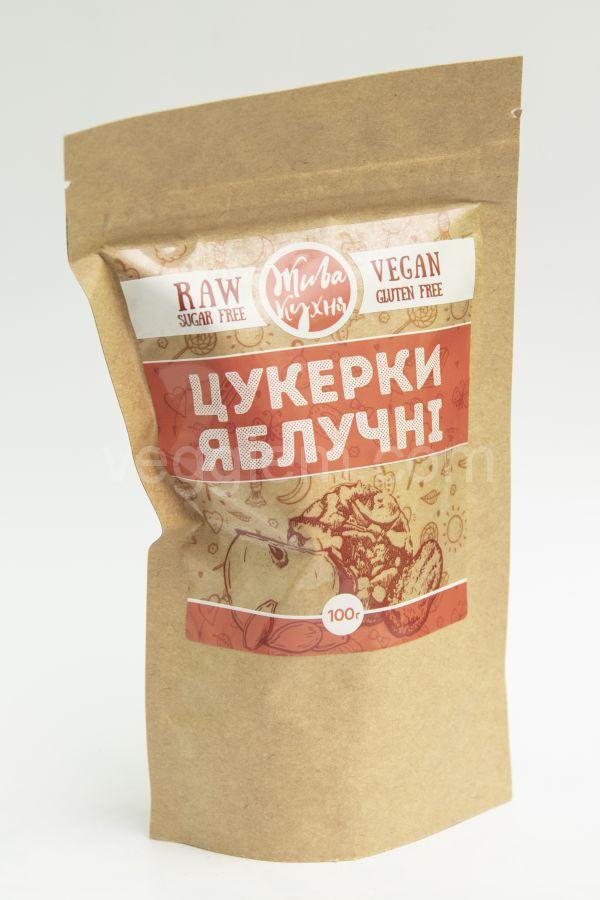 """Конфеты яблочные """"Живая кухня"""",100 грамм"""