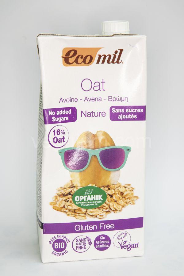 Органическое растительное молоко овсяное без глютена и сахара ,1000 мл