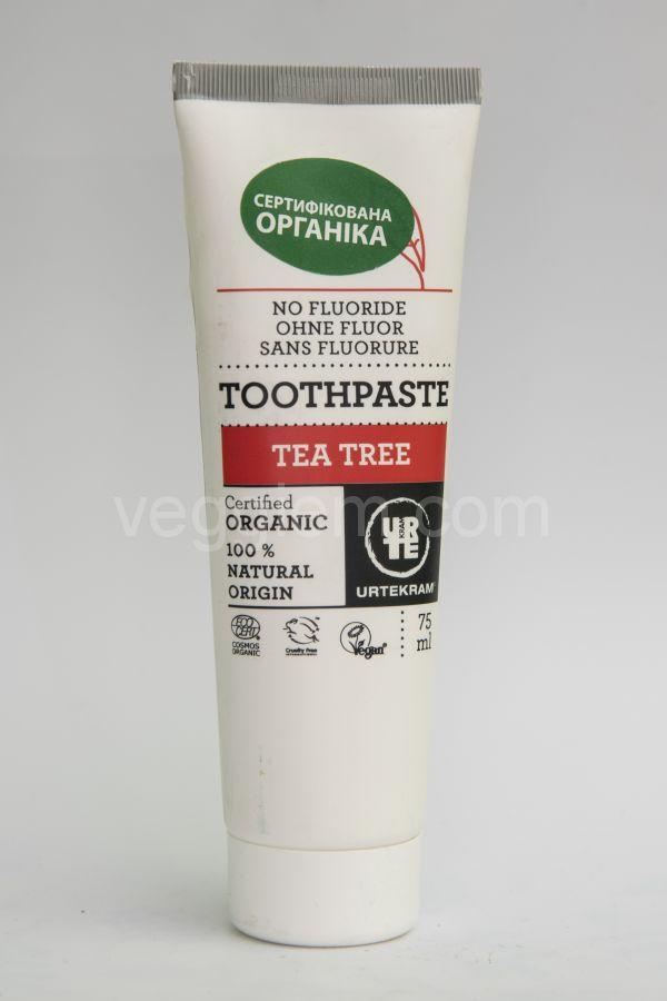 Органическая зубная паста Чайное дерево Urtekram,75 мл
