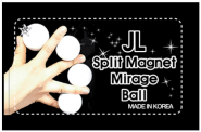 2 inch Split Magnet Mirage Ball 2inch Split Magnet Mirage Ball White by JL White