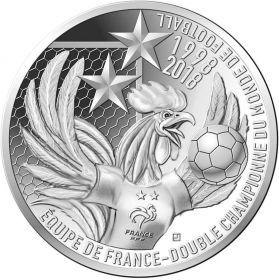 Франция - чемпионы мира по футболу 2018  10 евро Франция 2018 на заказ