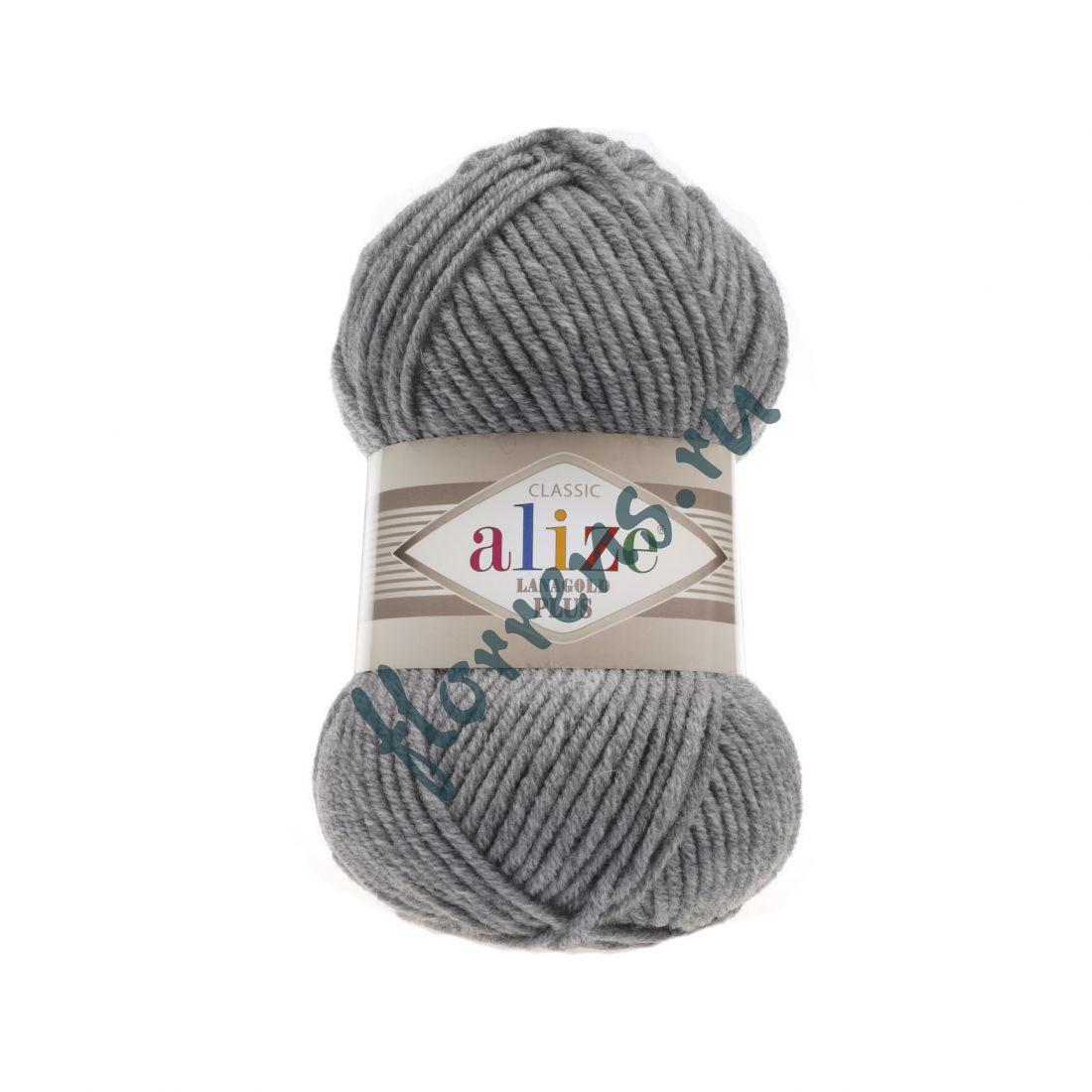 Пряжа Alize Lanagold Plus / 21 серый меланж