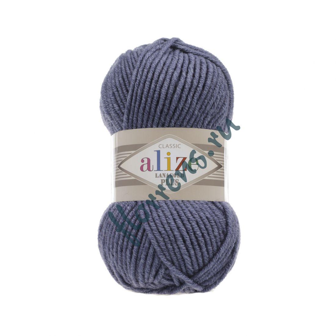 Пряжа Alize Lanagold Plus / 203 джинсовый меланж