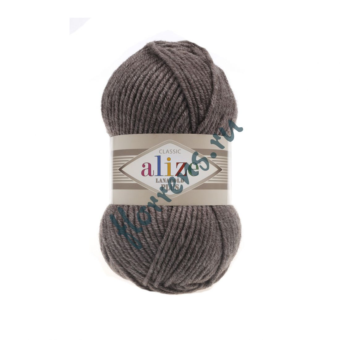 Пряжа Alize Lanagold Plus / 240 коричневый меланж