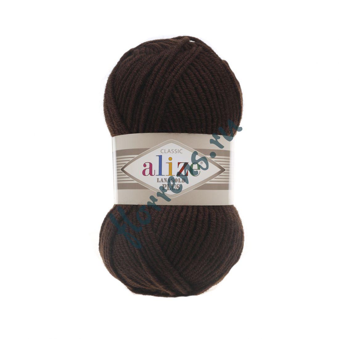 Пряжа Alize Lanagold Plus / 26 коричневый