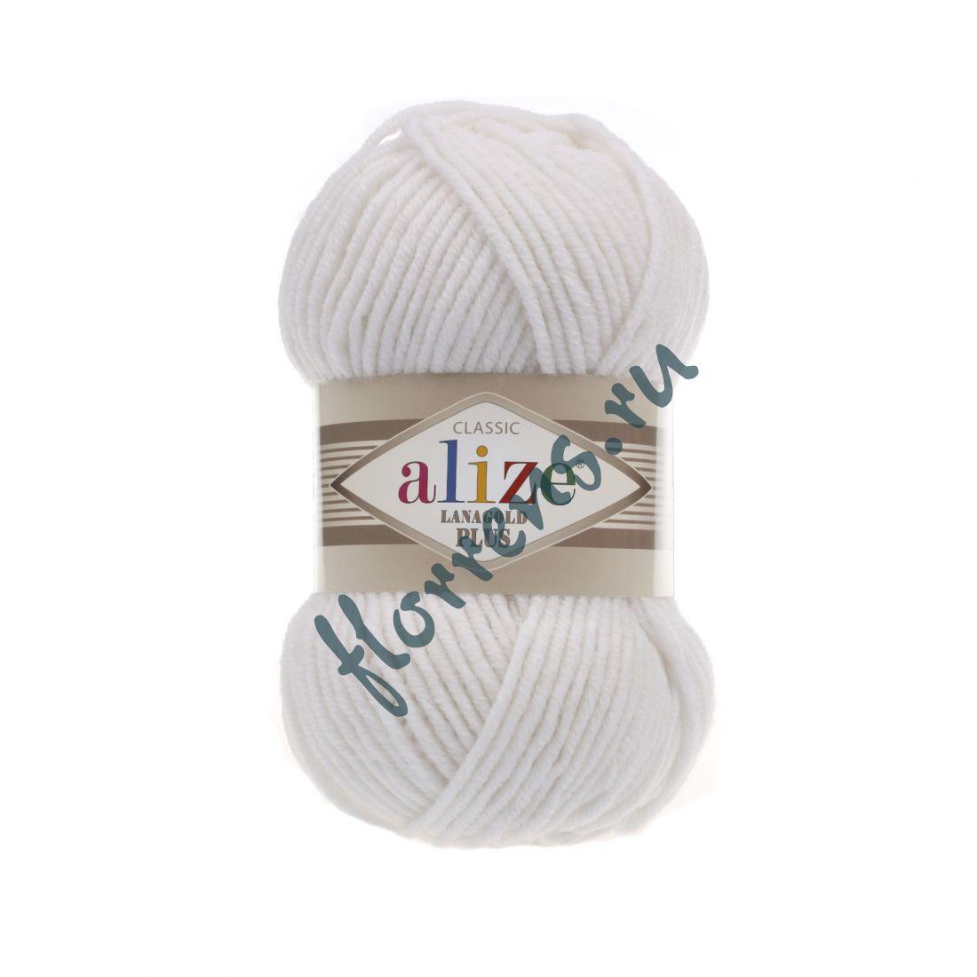 Пряжа Alize Lanagold Plus / 55 белый