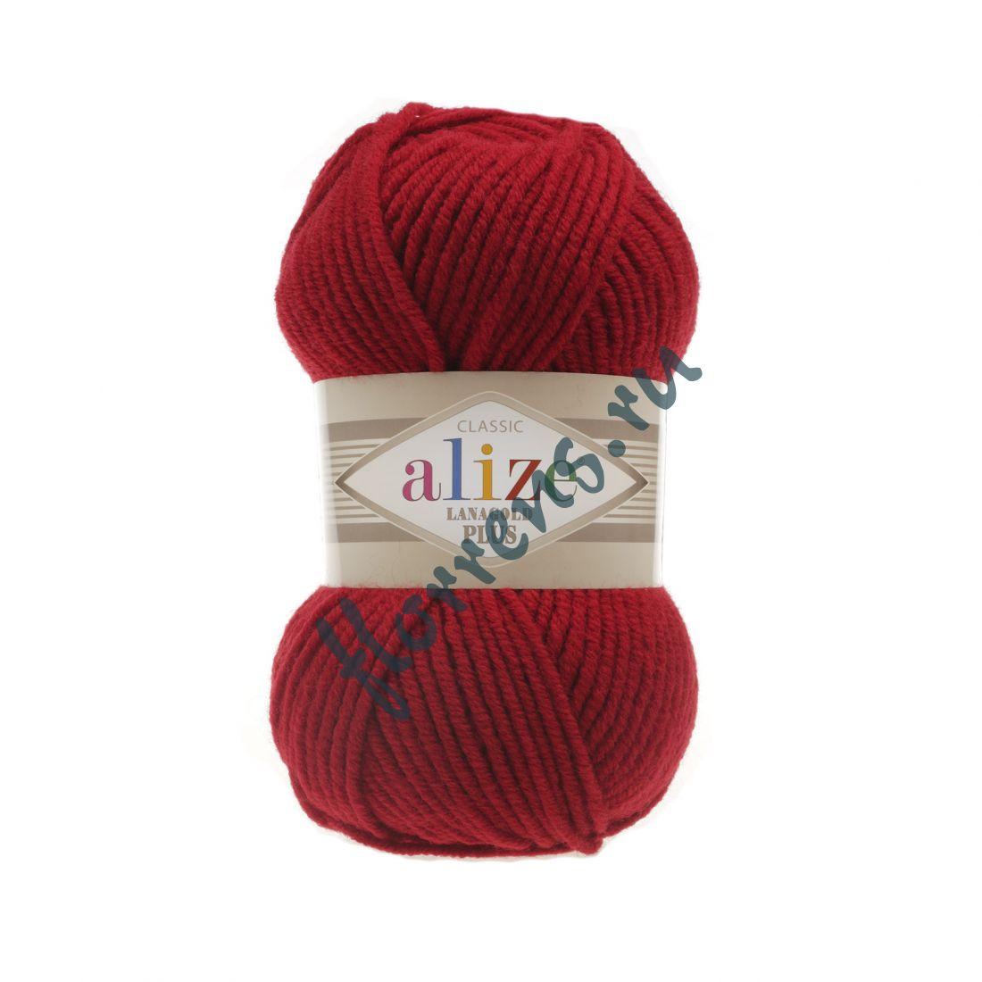Пряжа Alize Lanagold Plus / 56 красный