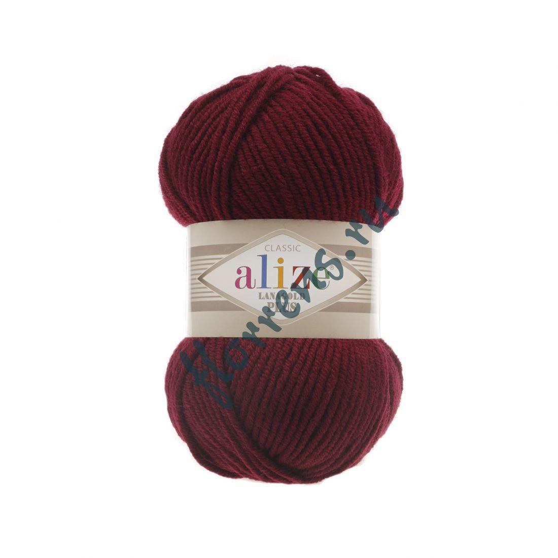 Пряжа Alize Lanagold Plus / 57 бордовый