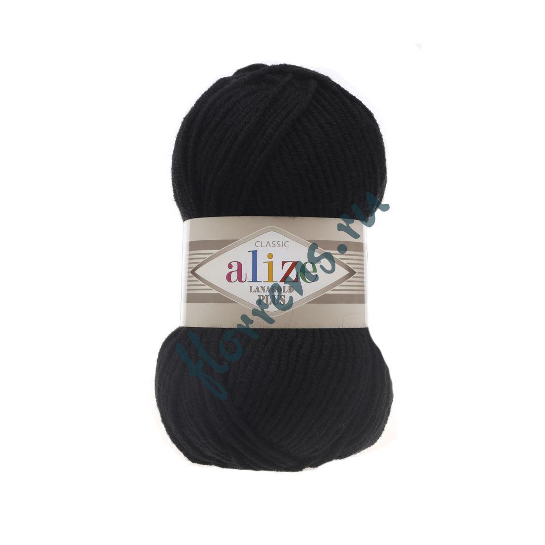 Пряжа Alize Lanagold Plus / 60 черный