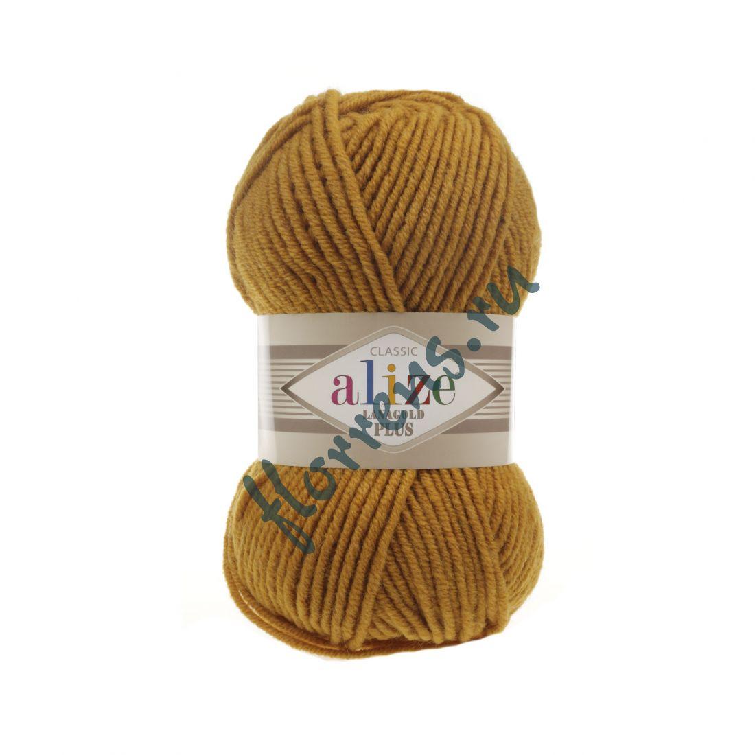 Пряжа Alize Lanagold Plus / 645 горчичный