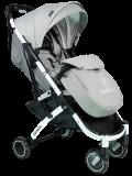 Коляска детская прогулочная Farfello D100 светло-серый/белая рама