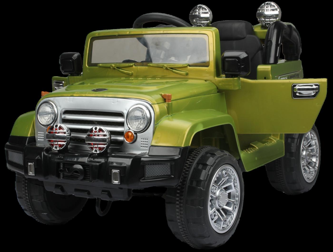 Детский электромобиль (2020) JJ245 (12V, EVA) зелёный