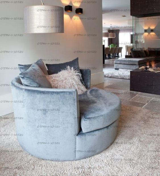 Кровать круглая Амстердам 1064 (б/о)