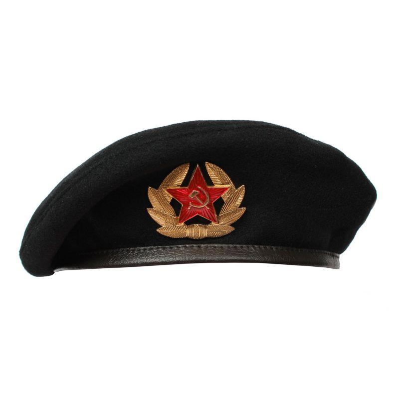 Чёрный берет морского пехотинца ВМФ (размер 54 см)
