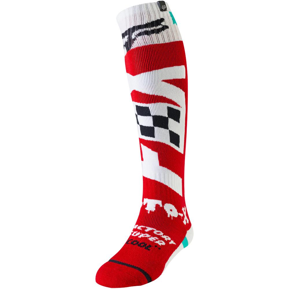 Fox - FRI Czar Thin Sock Cardinal носки, красно-белые