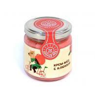 Крем-мед с клюквой 220 гр, стеклянная банка