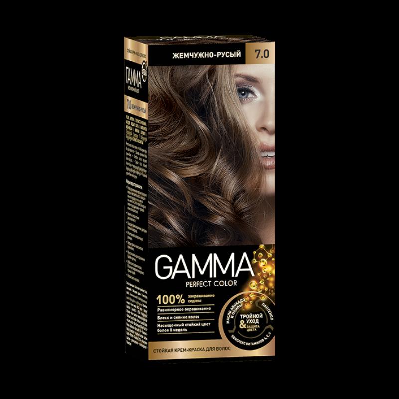 Краска для волос Gamma жемчужно-русый