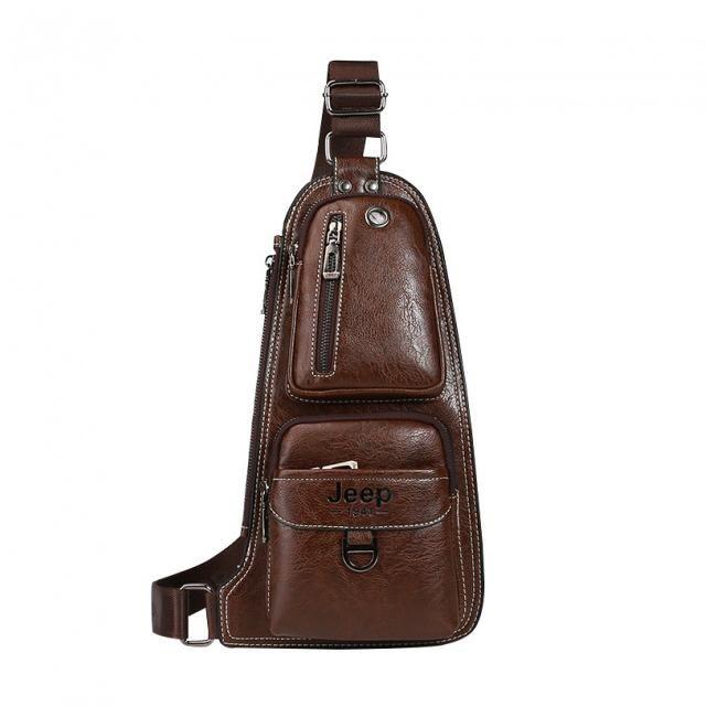Мужская сумка-рюкзак Jeep 1941, цвет коричневый