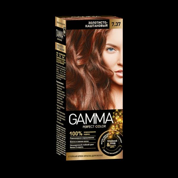 Краска для волос Gamma золотисто-каштановая