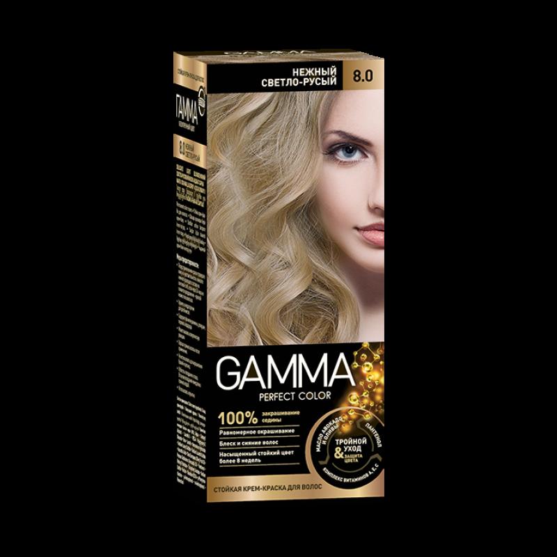 Краска для волос Gamma нежный светло-русый
