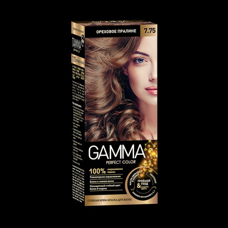 Краска для волос Gamma ореховое пралине