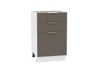 Шкаф нижний  с 3-мя выдвижными ящиками Терра Н503 в цвете Смоки софт