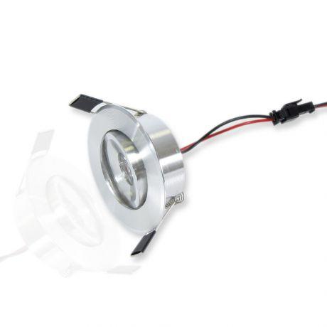 Светодиодный светильник Spot-SP67-1W (220V, 1W, серебристое о круглый)