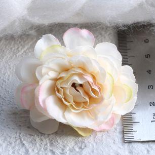 Тканевый цветок Молочный 5см