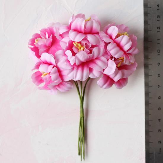 Цветы розовые - Кукольная миниатюра