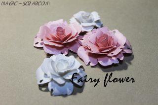 """Розы из бумаги """"Бело розовый  микс"""""""