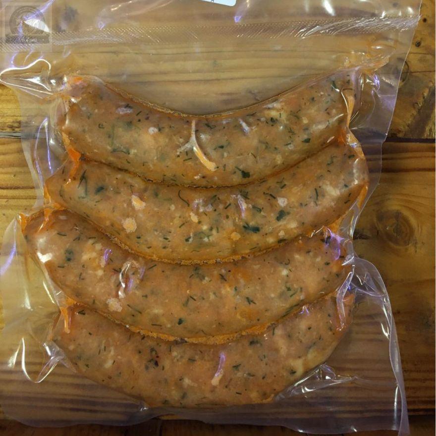 Колбаски натуральные из Кижуча.500 гр