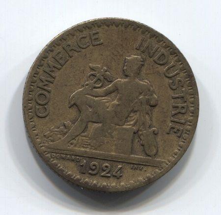 1 франк 1924 года Франция