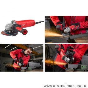 Электрическая углошлифовальная машина (УШМ, Болгарка) MILWAUKEE 125 ММ 1000 Вт AGV 10-125 EK 4933451222