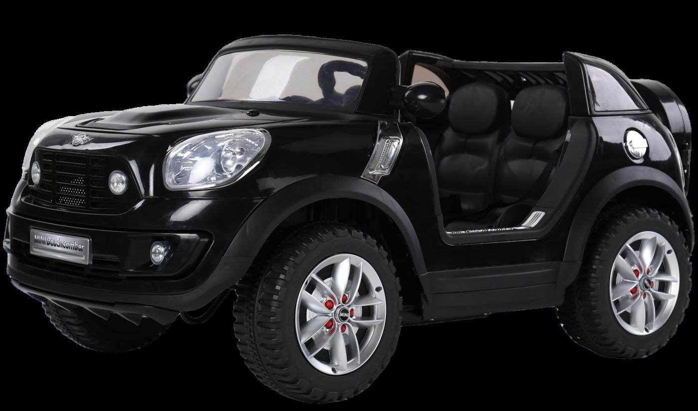 Электромобиль JJ298 MINI Beachcomber (12V, металлик, экокожа) черный