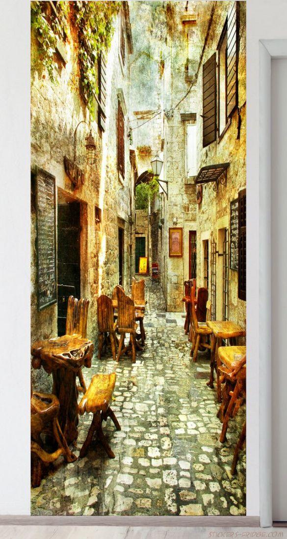 Панно на стену - старые улочки Греции 1
