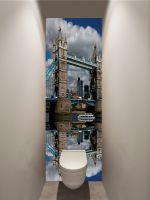 Фотообои в туалет - Лондонский мост магазин Интерьерные наклейки