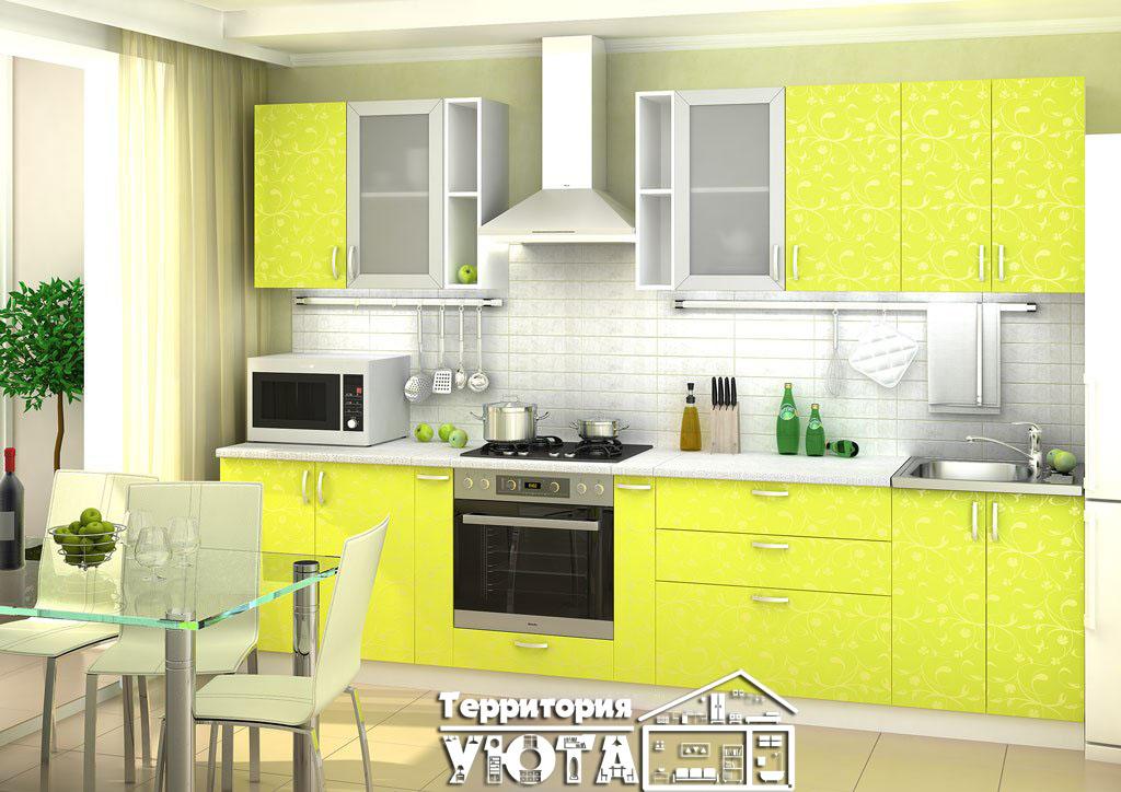 Кухонный гарнитур Дина Лайм 3,1м