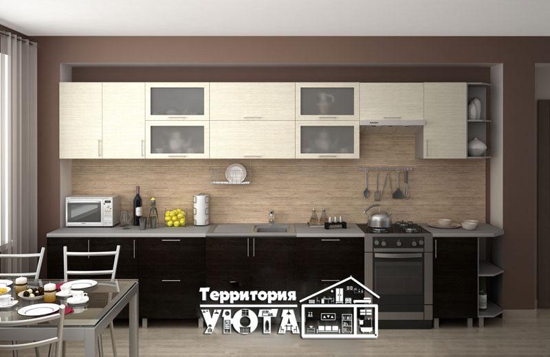 Кухонный гарнитур Дина дуб белфорт/венге 3,3м