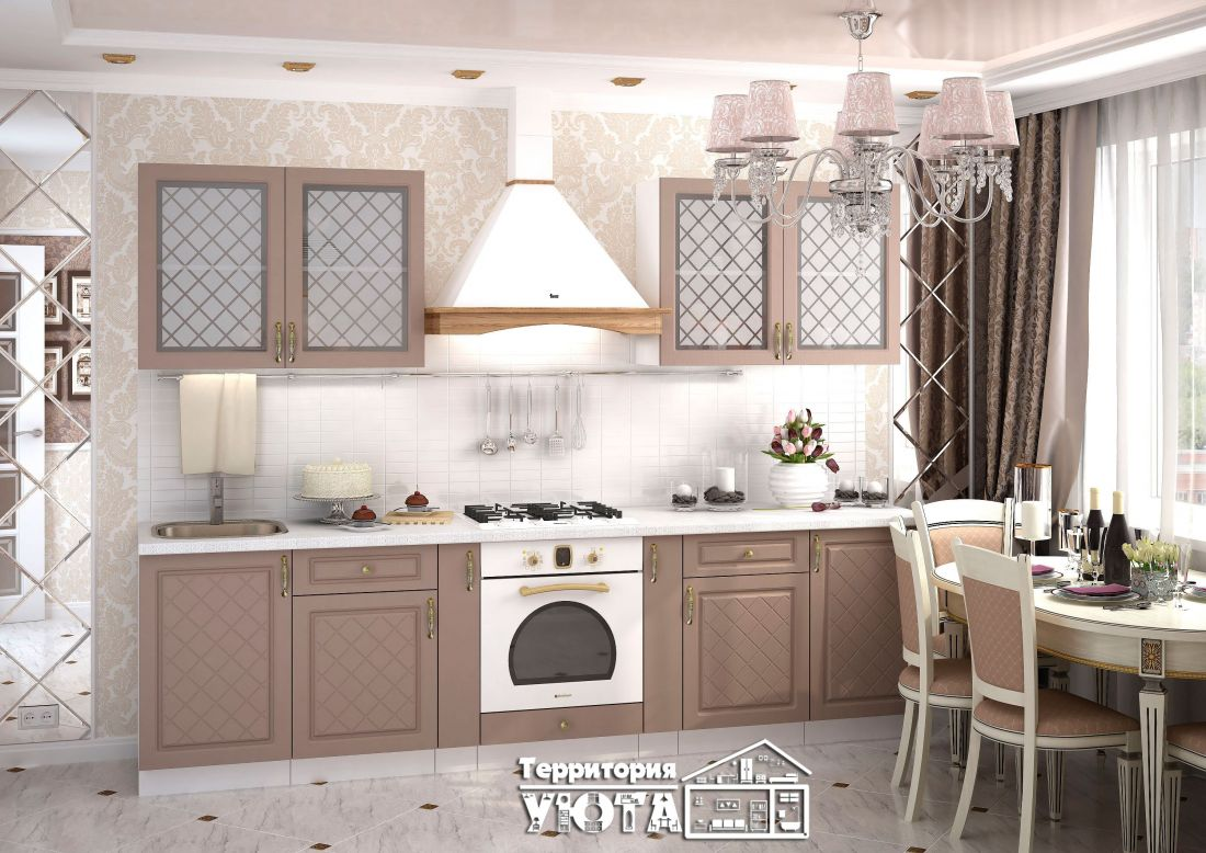 Кухонный гарнитур Модена дуб /серый 2,5м