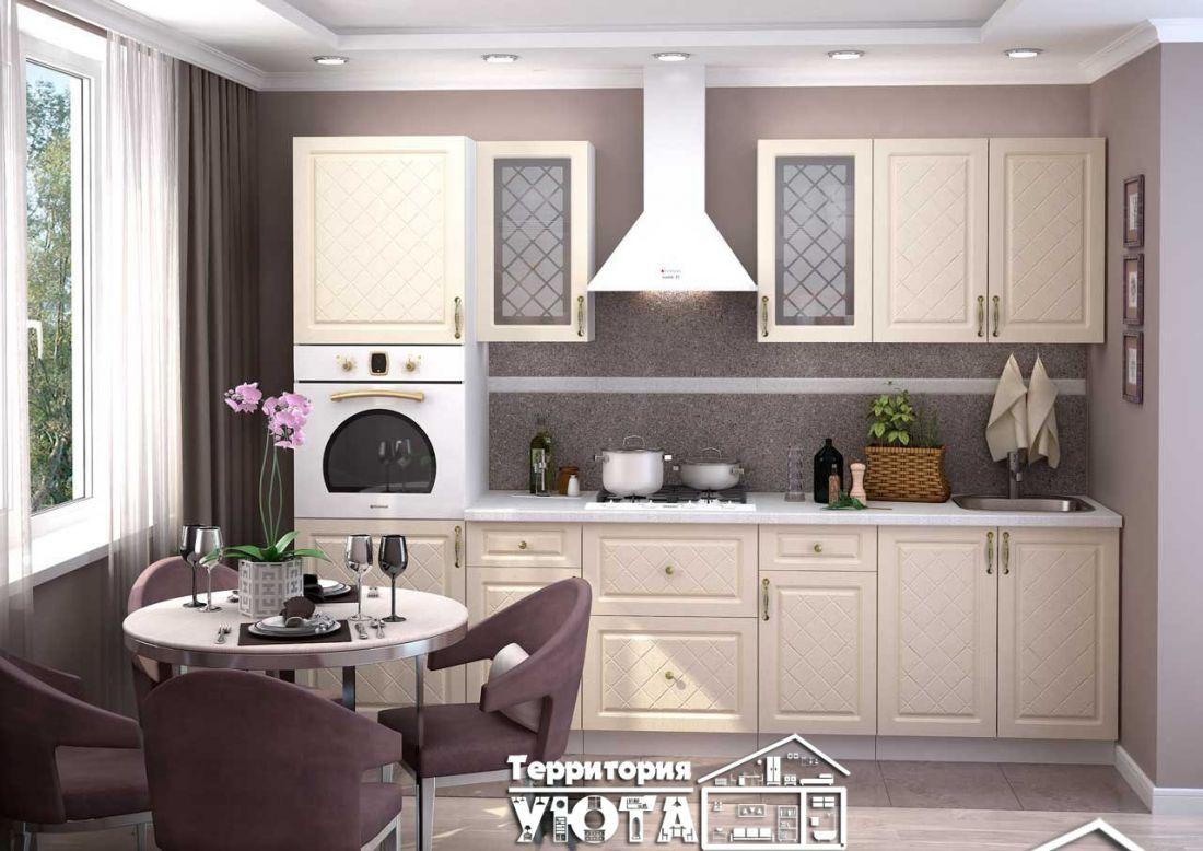 Кухонный гарнитур Модена дуб/ваниль 2,8м