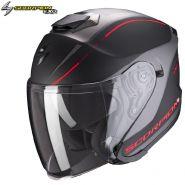 Шлем Scorpion EXO-S1 Shadow, Черный матовый с красным