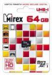 Карта памяти microSD MIREX 64GB class 10 (без адаптера) UHS-I