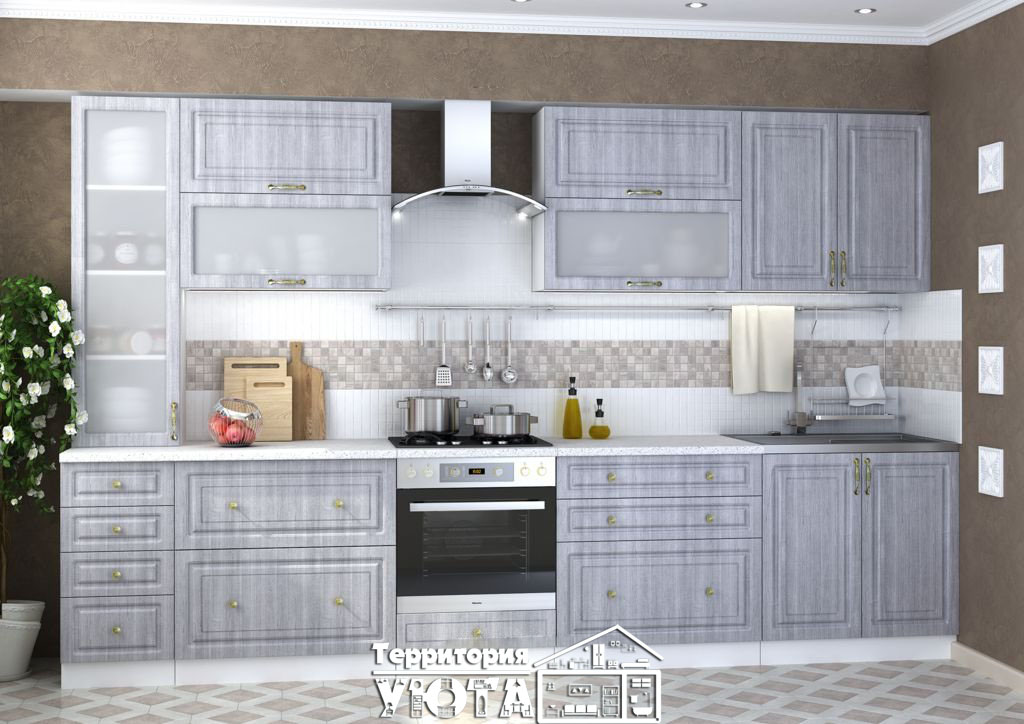 Кухонный гарнитур Юлия сандал /серый 3,4м