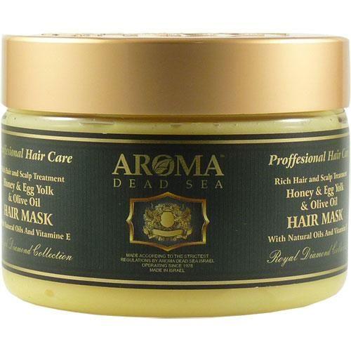 Маска с медом, оливковым маслом и яичным желтком для крепления корней волос Aroma Dead Sea (Арома Дэд Си) 600 мл